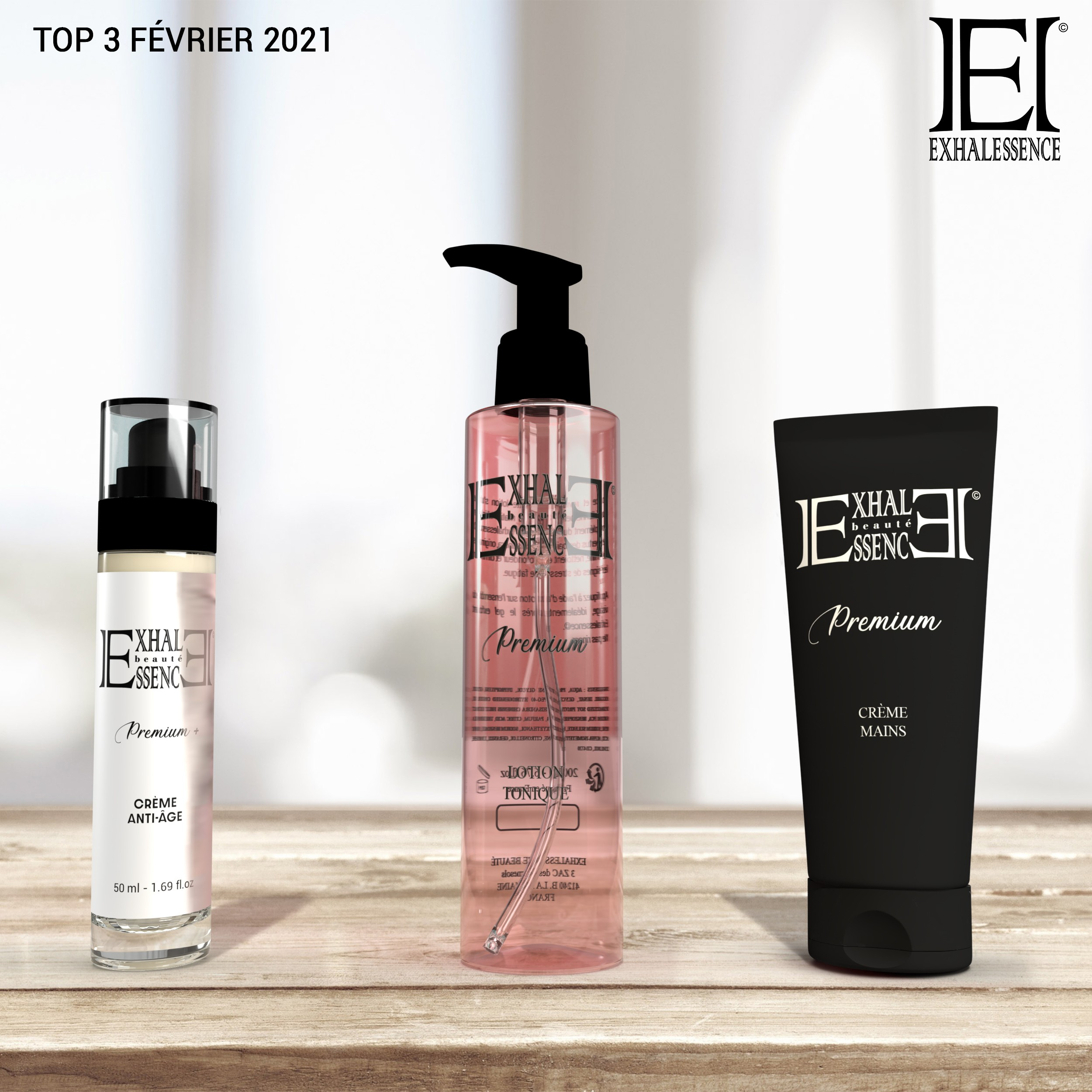 Top 3 des produits les plus vendus chez Exhalessence Beauté en Février 2021